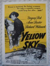 Yellow Sky (1948) - Gregory Peck - Vintage Trade Ad